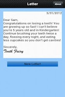 Screenshot of Letter from the Tooth Fairy!