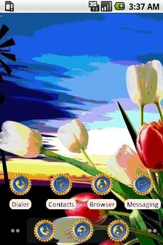 3D Tulip [SQTheme] for ADW - screenshot