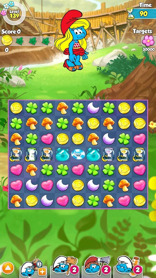 Smurfette's Magic Match- screenshot