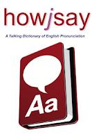 Screenshot of Howjsay English Pronunciation