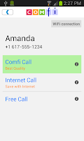 Screenshot of Comfi Free International Call