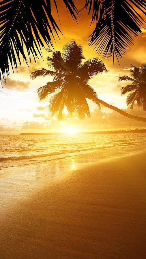 Beach Sunset Live Wallpaper Screenshot