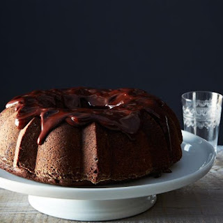 Chocolate-Mashed Potato Cake with Ganache.