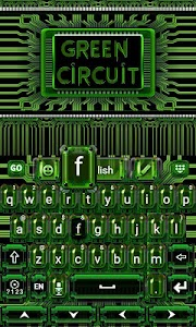 Green Circuit Keyboard Theme v1.65.18.57