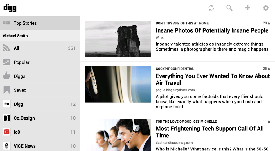 Screenshot 6 for Digg's Android app'