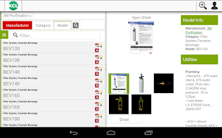 Screenshot of KCL Mobile