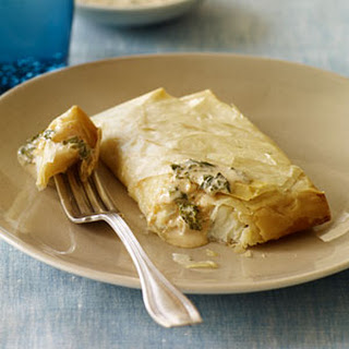 Spicy Halibut Baked in Phyllo.