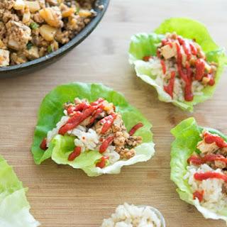 Turkey Asian Lettuce Wraps.
