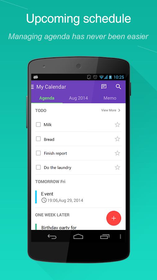 WeCal- Calendar Google/Weather - screenshot