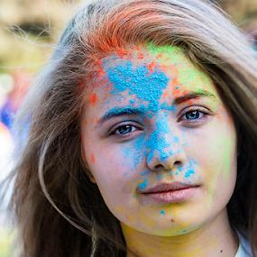 color run 2014 Bucharest by Dana Corina Popescu - People Street & Candids ( bucharest, color run, woman, people )