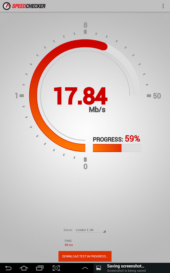 Internet Speed Test 2G, 3G, LTE, Wifi- screenshot