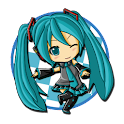 3D Miku finger-guessing game logo