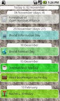 Screenshot of Simple Days List