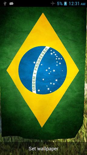 Brazil 3D Flag Live Wallpaper