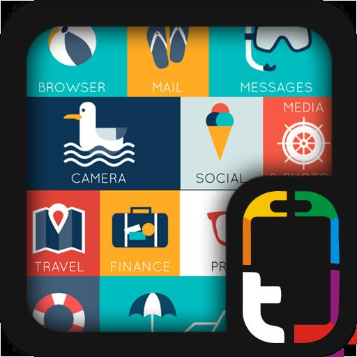 クールなビーチのテーマ 個人化 App LOGO-硬是要APP