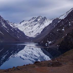 Laguna del Inca by Claes Wåhlin - Landscapes Mountains & Hills ( andes, chile, lake, portillo, laguna del inca,  )