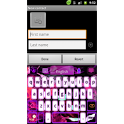 GO Keyboard Pink Flame theme icon