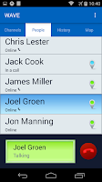Screenshot of WAVE Mobile Communicator PTT
