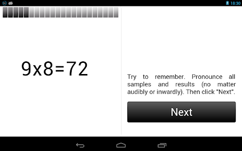 Multiplication Table. - screenshot thumbnail