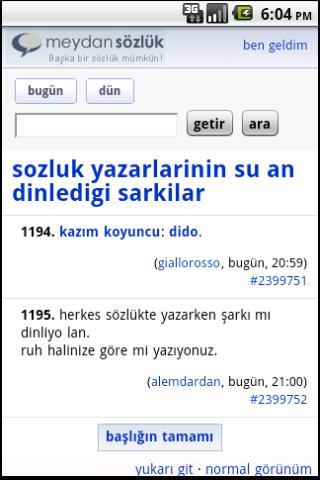 Meydan Sozluk - screenshot