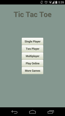 Tic Tac Toe LAN - screenshot