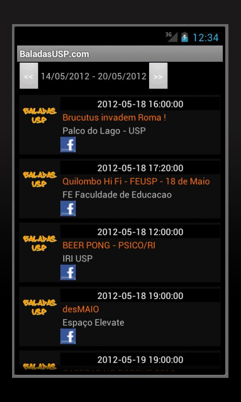 Baladas USP- screenshot