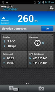 Runtastic Altimeter PRO - screenshot thumbnail