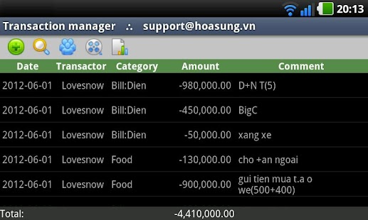 Hoasung Expense Manager- screenshot thumbnail