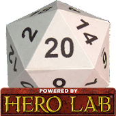 Hero Lab Character Sheet