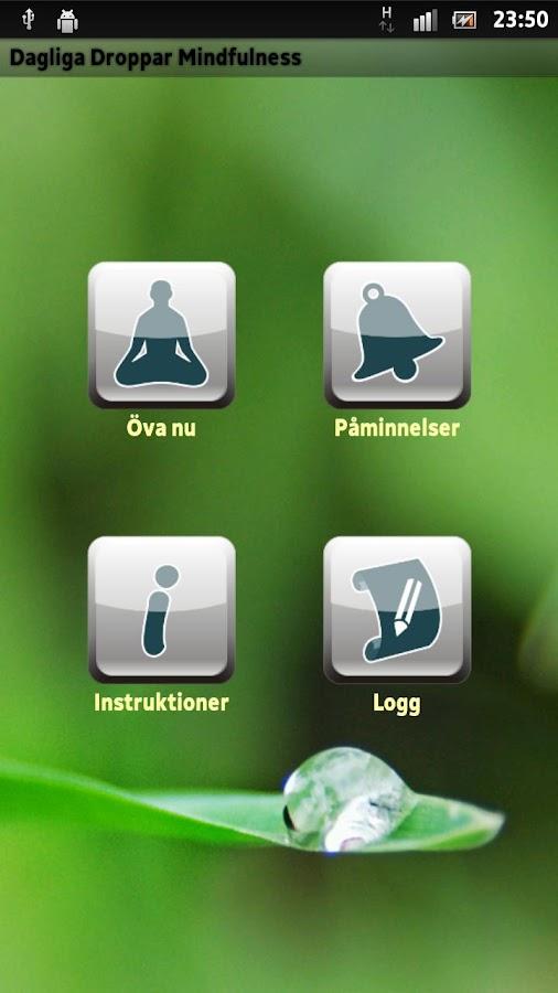 Dagliga Droppar Mindfulness– skärmdump