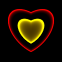 3D Neon Love Shower LWP icon