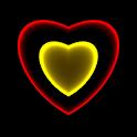 3D Neon Love Shower LWP icon