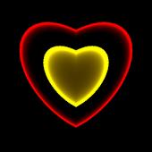3D Neon Love Shower LWP