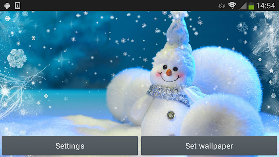 聖誕雪人動態壁紙