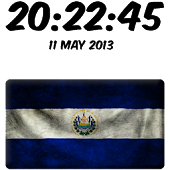 El Salvador Digital Clock
