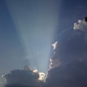 Sun bursting trough clouds by Aleksa Stankovic - Landscapes Cloud Formations ( sky, cloudscape, cloud,  )