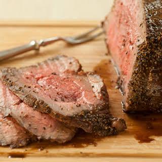 Honey-Glazed Black Pepper Roast Beef.