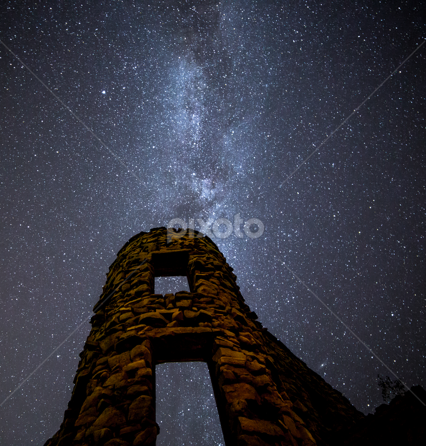 by Andy Taber - Buildings & Architecture Decaying & Abandoned ( sky, brick, morter, night, hotel, abandoned,  )