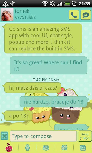 GO SMS Pro Sweet Muffins Theme