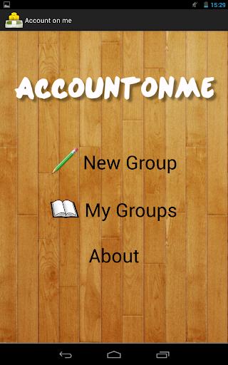 Account on me