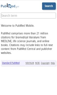 PubMed search - screenshot thumbnail