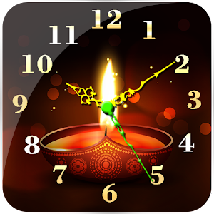 Diwali Clock Live Wallpaper