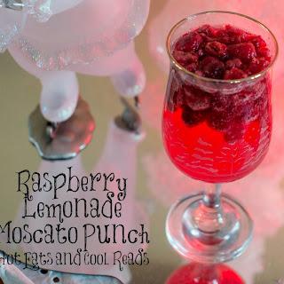 Raspberry Lemonade Moscato Punch.