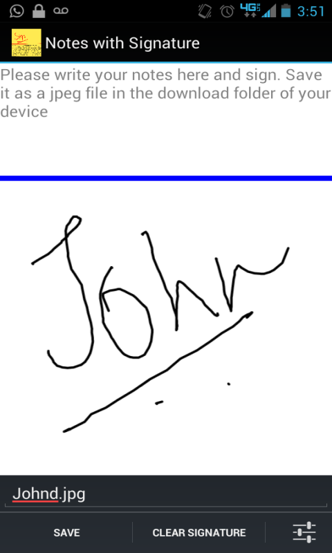 Signature Capture App - screenshot