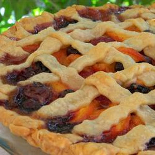 Summer is Here Triple Berry Peach Pie