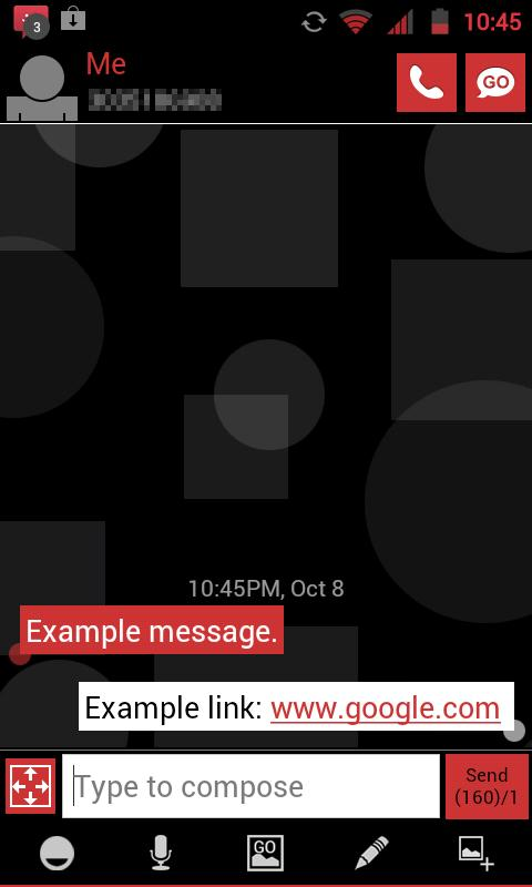 GO SMS THEME - Red Shapes - screenshot