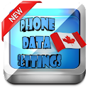 Canada Phone Data Settings icon