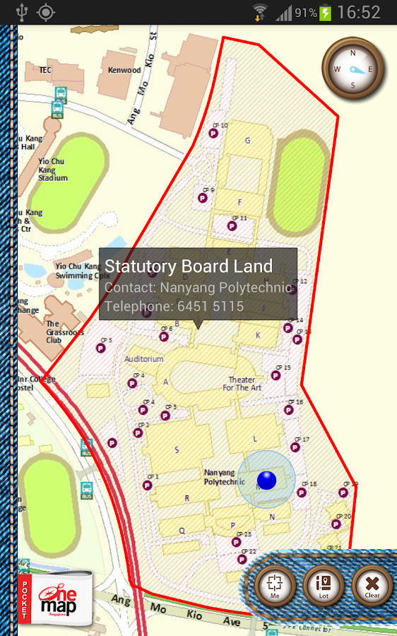 Pocket OneMap- screenshot