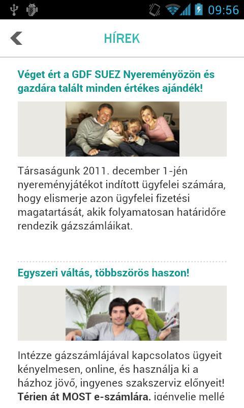 GDF SUEZ Zrt. Ügyfélszolgálat - screenshot