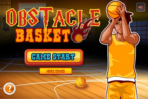 障礙籃球 - 室内罚球投篮练习游戏